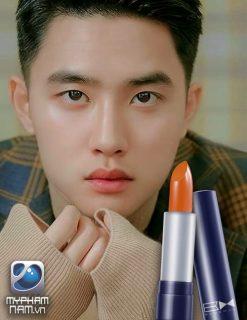 son môi dành cho nam màu cam